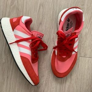 ADIDAS I5923 INIKI Boost Running Shoes Pink Red